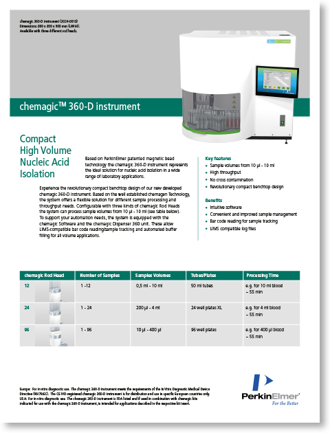chemagic 360 instrument for IVD