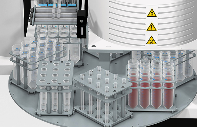 Instrument for high-throughput DNA and RNA extraction