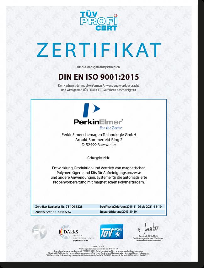 DIN EN ISO 9001 German certificates