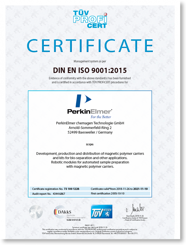 DIN EN ISO 9001 English certificates