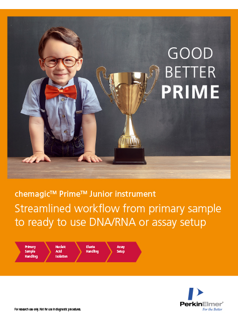 Magnetic separation technology realized in the chemagic Prime Junior instrument